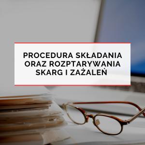 procedura skladania oraz rozpatrywania skarg i zazalen Grievance Procedure
